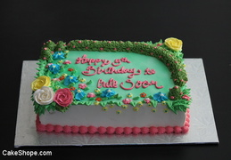 Flower Cake without Princess